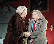 People <br /> by Alan Bennett <br /> at The Lyttelton Theatre, NT, London, Great Britain <br /> <br /> Press photocall<br /> 7th November 2012 <br /> <br /> Linda Bassett<br /> <br /> Frances de la Tour<br /> <br /> Miles Jupp<br /> <br /> Selina Cadell<br /> <br /> Nicholas le Provost <br /> <br /> Peter Egan <br /> <br /> Photograph by Elliott Franks