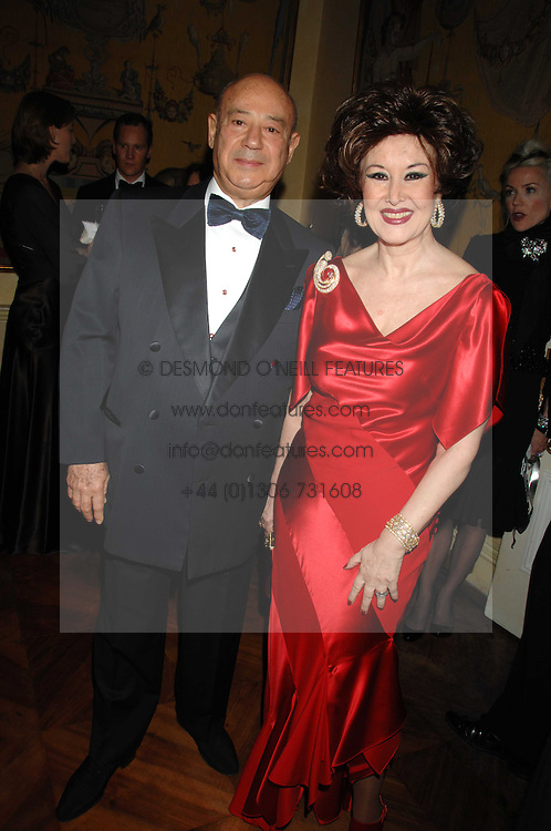 MR &amp; MRS BAHA BASSATNE at a dinner hosted by the Italian Ambassador for the Buccellati family held at the Italian Embassy, Grosvenor Square, London on 28th March 2007.<br />