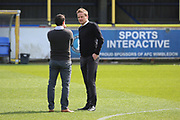 AFC Wimbledon manager Neal Ardley on the pitch prior to kick off during the EFL Sky Bet League 1 match between AFC Wimbledon and Southend United at the Cherry Red Records Stadium, Kingston, England on 25 March 2017. Photo by Matthew Redman.