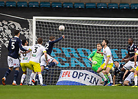 Football - 2018 / 2019 FA Cup - Third Round: Millwall vs. Hull City<br /> <br /> Mahlon Romeo (Millwall FC) heads into  the open part of the goal thinking he has given his team the lead at The Den.<br /> <br /> COLORSPORT/DANIEL BEARHAM