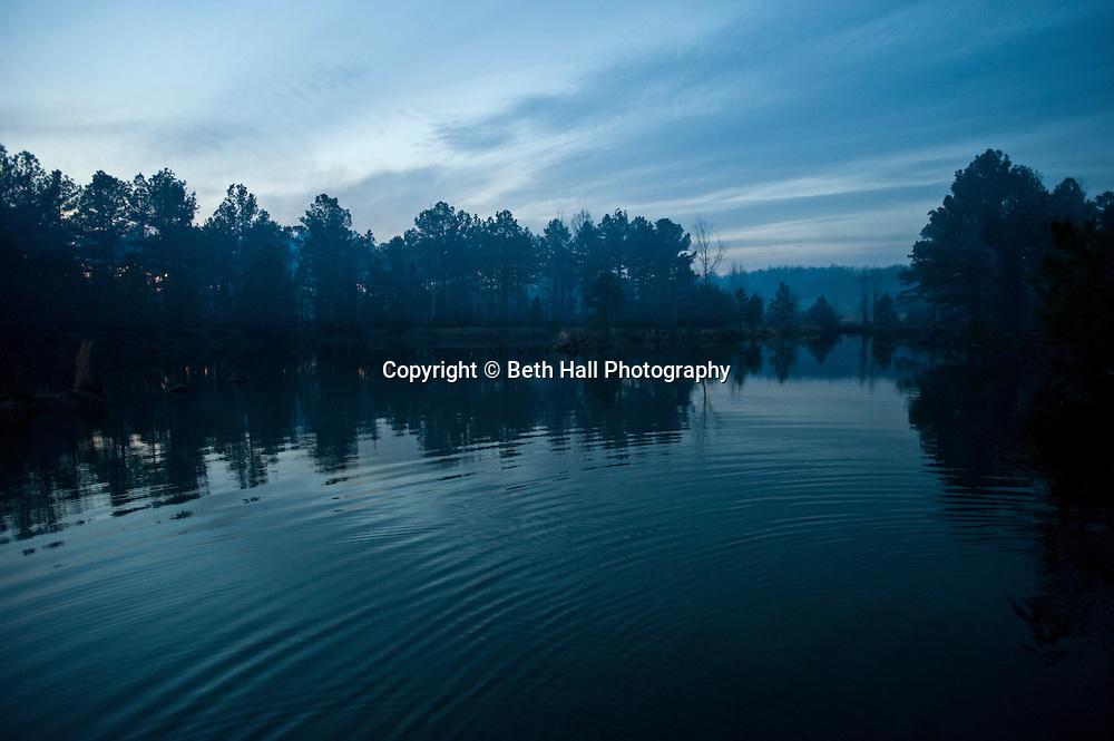 A lake a dusk.
