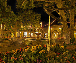 Tlaquepaque in Sedona, AZ on a beautiful Summer night.