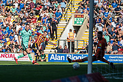 Harry Pritchard of Bradford City shoots and scores to make it level between the two teams during the EFL Sky Bet League 2 match between Bradford City and Carlisle United at the Utilita Energy Stadium, Bradford, England on 21 September 2019.