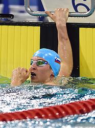 02-04-2015 NED: Swim Cup, Eindhoven<br /> Robert Zbogar SLO 50m butterfly<br /> Photo by Ronald Hoogendoorn / Sportida
