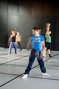 Dancers practicing in a studio of National Choreographic centre, called The Pavillon Noir, in Aix-en-Provence, France.
