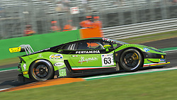 September 23, 2018 - Imperiale Racing (Venturini/Mul) at first chicane in Monza during the second qualifying session of International GT Open 2018. (Credit Image: © Riccardo Righetti/ZUMA Wire)