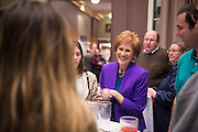 Dr. Judith Yaross Lee speaks with attendees of the Distinguished Professor Ceremony at Ohio University's Baker Center Ballroom on Monday, February 20, 2017. Dr. Lee is one of two recipients of the 2017 Distinguished Professor Award.