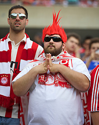 CHICAGO, USA - Sunday, July 27, 2014: Olympiacos supporters before the International Champions Cup Group B match against Liverpool at the Soldier Field Stadium on day seven of the club's USA Tour. (Pic by David Rawcliffe/Propaganda)