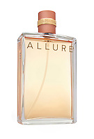 Chanel Allure Perfume photographed on a white background