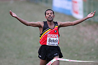 ATHLETICS - CROSS COUNTRY - EUROPEAN CROSS COUNTRY CHAMPIONSHIPS - VELENJE (SLO) - 11/12/2011 - PHOTO : EDDY LEMAISTRE / KMSP / DPPI - SENIOR MEN - ATELAW BEKELE (BEL)  FINISH AT THE 1ST PLACE, GOLD MEDAL AND EUROPEAN CHAMPION -