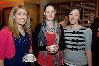 Dr. Laura Gleeson, Loughrea, Dr. Kim Wilson and Dr. Gabrielle Quirke, Roscam Medical Centre at Rheumatology Toolbox : Rheumatology for General Practice Conference at the Radisson Blu Hotel , Galway. Photo:Andrew Downes