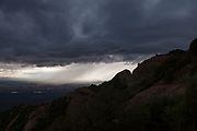 Storm clouds over Montserrat, mountain, Catalonia