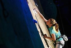 Maja Vidmar first Slovenian who won overall world championship in climbing during her retirement, Sport hall Poden, Skofja Loka, Slovenija, on April 3, 2016 in Skofja Loka, Slovenia. Photo by Grega Valancic / Sportida
