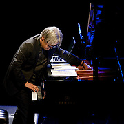 "April 9, 2011 - Manhattan, NY : Ryuichi Sakamoto performs during the Japan Society's 12-hour-long special ""Concert For Japan"" charity event on Saturday.  (This was taken during the 6-7:20pm Gala Block)... CREDIT: Karsten Moran for The New York Times."