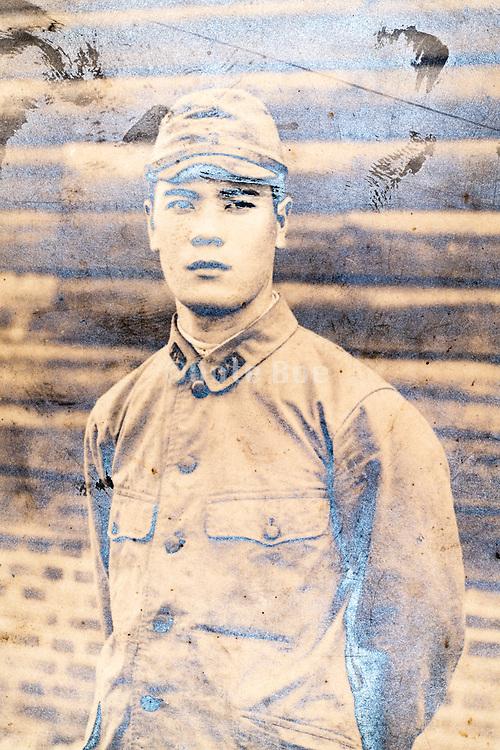 deteriorating soldier portrait Japan ca 1940s