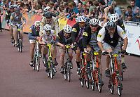 LONDON UK 30TH JULY 2016:  Brompton Cyclists The Mall. The Brompton World Championship. Prudential RideLondon in London 30th July 2016<br /> <br /> Photo: Jon Buckle/Silverhub for Prudential RideLondon<br /> <br /> Prudential RideLondon is the world's greatest festival of cycling, involving 95,000+ cyclists – from Olympic champions to a free family fun ride - riding in events over closed roads in London and Surrey over the weekend of 29th to 31st July 2016. <br /> <br /> See www.PrudentialRideLondon.co.uk for more.<br /> <br /> For further information: media@londonmarathonevents.co.uk