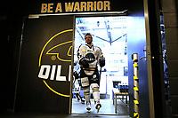 GET-ligaen Ice Hockey, 27. october 2016 ,  Stavanger Oilers v Stjernen<br /> Eirik Salsten fra Stavanger Oilers i løpet av pause mot Stjernen<br /> Foto: Andrew Halseid Budd , Digitalsport