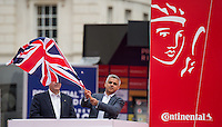 LONDON UK 31ST JULY 2016:  Sadiq Khan Mayor of London. The Prudential RideLondon-Surrey Classic  in London 31st July 2016<br /> <br /> Photo: Jon Buckle/Silverhub for Prudential RideLondon<br /> <br /> Prudential RideLondon is the world's greatest festival of cycling, involving 95,000+ cyclists – from Olympic champions to a free family fun ride - riding in events over closed roads in London and Surrey over the weekend of 29th to 31st July 2016. <br /> <br /> See www.PrudentialRideLondon.co.uk for more.<br /> <br /> For further information: media@londonmarathonevents.co.uk