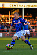 Stephen Dawson during the The FA Cup match between Aldershot Town and Rochdale at the EBB Stadium, Aldershot, England on 7 December 2014.
