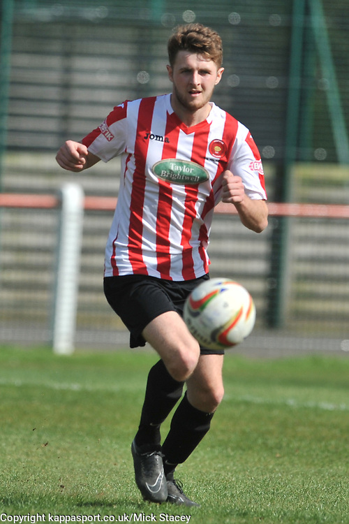 GEORGE BOLAND KEMPSTON ROVERS, Kempston Rovers v Fleet Town, Evostick Southern League Central Saturday 15th April 2017. Score 3-1. Photo:Mike Capps