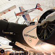 An early Lufthansa plane on display at the Smithsonian National Air and Space Museum's Udvar-Hazy Center, a large hangar facility at Chantilly, Virginia, next to Dulles Airport and just outside Washington DC.