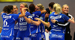 08.10.2011, BSFZ Suedstadt, Maria Enzersdorf, AUT, EHF Champions League, Hypo Niederoesterreich vs Randers HK, im Bild Celebration after the Win from Randers HK, EXPA Pictures © 2011, PhotoCredit: EXPA/ T. Haumer
