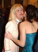 Sally Greene and Neve Campbell. Laurence Oliver Awards, Hilton Hotel. 26 February 2006. ONE TIME USE ONLY - DO NOT ARCHIVE  © Copyright Photograph by Dafydd Jones 66 Stockwell Park Rd. London SW9 0DA Tel 020 7733 0108 www.dafjones.com