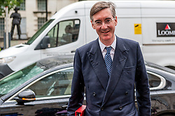 Jacob Rees-Mogg, Leader of the House of Commons arrives at the Cabinet Office.<br /> <br /> Richard Hancox | EEm 30072019