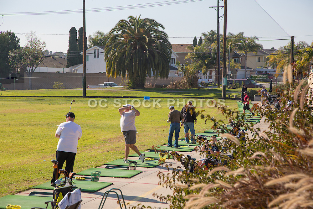 Driving Range at Meadowlark Golf Club in Huntington Beach California
