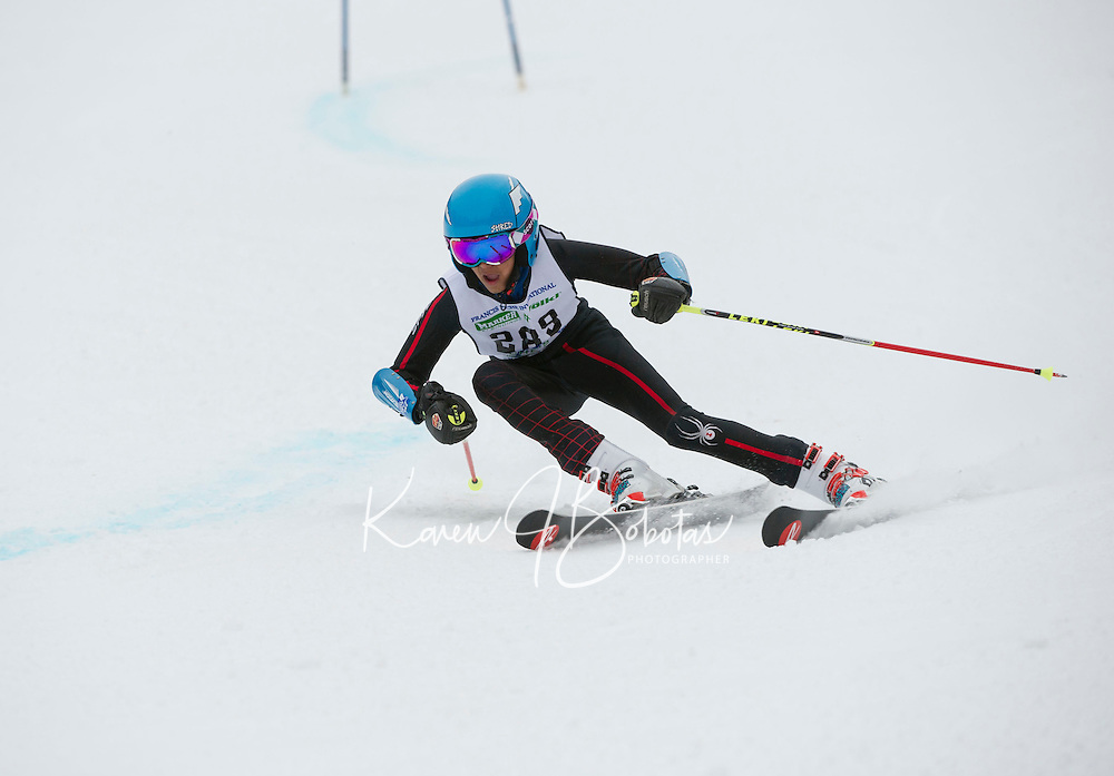 Francis Piche Invitational U14 Men giant slalom on Cannonball Saturday, March 14, 2015.  Karen Bobotas Photographer