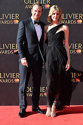 © Licensed to London News Pictures. 09/04/2017. RAFE SPALL and ELIZA TOIT  attend The Oliver Awards held at the Royal Albert Hall. London, UK. Photo credit: Ray Tang/LNP