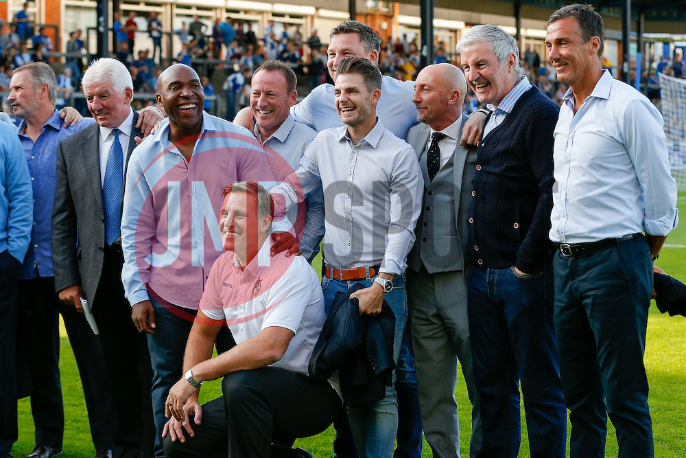 The Bristol Rovers Legends (including Geoff Twentyman and Ian Holloway) gather in support of retring Physio and ex Bristol Rovers player Phil Kite - Mandatory byline: Rogan Thomson/JMP - 07966 386802 - 31/07/2015 - FOOTBALL - Memorial Stadium - Bristol, England - Bristol Rovers v West Bromwich Albion - Phil Kite Testimonial Match.