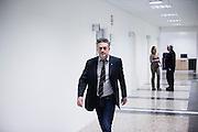 L'aquila, Abruzzo, Italia. 27.03.2014. Professor Eugenio Coccia er direktør for Gran Sasso Science Institute. Et prosjekt som ble til nesten umiddelbart etter skjelvet, og er unikt i sitt slag i verden.  L'aquila, 6. april 2009 kl. 03:32: Et jordskjelv som måler 6.3 ryster byen. 309 mennesker mister livet. Fem år senere sliter de som overlevde fortsatt med etterskjelvene, i form av en guffen cocktail av uærlige offentlige tjenestemenn, mafia og 494 millioner øremerkede euro på avveie. Fotografier til bruk i feature i DN lørdag 05.04.2014. Foto: Christopher Olssøn.