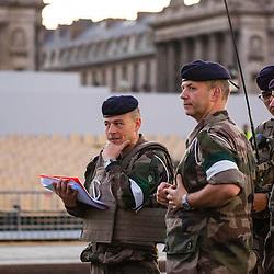 R&eacute;p&eacute;titions matinales du d&eacute;fil&eacute; &agrave; pied le 9 juillet sur les Champs Elys&eacute;es.<br /> juillet 2016 / Paris (75) / FRANCE<br /> Cliquez ci-dessous pour voir le reportage complet en acc&egrave;s r&eacute;serv&eacute;<br /> http://sandrachenugodefroy.photoshelter.com/gallery/2016-07-Repetitions-du-defile-du-14-juillet-Complet/G0000Av80JipVmfE/C0000yuz5WpdBLSQ