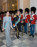 Copenhagen , 03-01-2017<br /> <br /> New Years Reception at Christiansborgborgpalace for Diplomats with Queen Margrethe and Crownprince Frederik and Crownprincess Mary<br /> <br /> COPYRIGHT ROYALPORTRAITS EUROPE/ BERNARD RUEBSAMEN