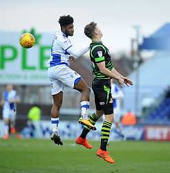 Ellis Harrison of Bristol Rovers challenges Joe Wright of Doncaster Rovers - Mandatory by-line: Neil Brookman/JMP - 23/12/2017 - FOOTBALL - Memorial Stadium - Bristol, England - Bristol Rovers v Doncaster Rovers - Sky Bet League One