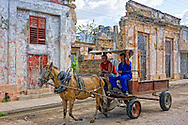 Horse and wagon in Cardenas, Matanzas, Cuba.