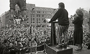 Speakers, Anti Clause 28 demonstration, Manchester, 1988