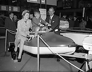 18/04/1960<br /> 04/18/1960<br /> 18 April 1960<br /> The First Annual Boat Show at  Busaras, Store Street, Dublin.<br /> Mr and Mrs John Cross and son Patrick (Ravenswood, Carrigaline, Cork) ponder a purchase.