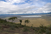 Africa, Tanzania, ngorongoro crater a view of the geological formation