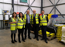 Helping Businesses Prepare For Brexit, Livingston, Thursday 1st November 2018<br /> <br /> Constitutional Relations Secretary Michael Russell launched a new dedicated online domain and a specially designed Brexit self-assessment tool in Livingston.<br /> <br /> The self-assessment tool will help businesses identify how Brexit might affect them, providing bespoke recommendations for action to help their planning activities. It will also be home to the Brexit toolkit, 15-point checklist, news, articles, access to experts and event listings.<br /> <br /> The launch was made during a visit to CSI Group (Complete Storage Interiors) in Livingston where Mr Russell talked to the company about the challenges Brexit poses for business, particularly SMEs.<br /> <br /> Pictured: Michael Russell (2nd right) with members of staff at CSI<br /> <br /> Alex Todd   Edinburgh Elite media