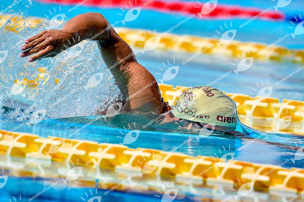 SANZULLO Mario Fiamme Oro Napoli <br /> 1500 freestyele men slow heat<br /> day 02  24-06-2017<br /> Stadio del Nuoto, Foro Italico, Roma<br /> FIN 54mo Trofeo Sette Colli 2017 Internazionali d'Italia<br /> <br /> Photo Antonietta Baldassarre/Deepbluemedia/Insidefoto