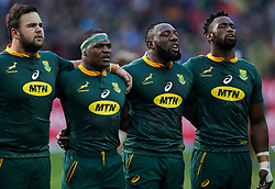 Frans Malherbe - Chiliboy Ralepelle -Tendai Mtawarira and Siya Kolisi (captain) of South Africa - Mandatory by-line: Steve Haag/JMP - 23/06/2018 - RUGBY - DHL Newlands Stadium - Cape Town, South Africa - South Africa v England 3rd Test Match, South Africa Tour