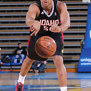 Stampede Forward Jerrelle Benimon (50) passes the ball in the first half of a NBA D-league regular season basketball game between the Delaware 87ers and the Idaho Stampede (Utah Jazz) Tuesday, Feb. 03, 2015 at The Bob Carpenter Sports Convocation Center in Newark, DEL