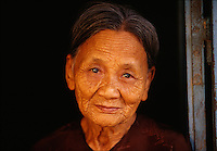 Portrait of an old woman in Hoi An, Vietnam