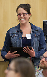 Emily Steelquist, Faye M. Anderson/Van Beek Scholarships for Community/Volunteer Service, Celebration of Service at PLU on Wednesday, April 22, 2015. (Photo: John Froschauer/PLU)