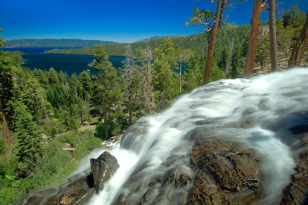 Lower Eagle Falls, Emerald Bay State Park, Lake Tahoe, South Lake Tahoe, California, United States of America