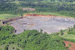 Vista aérea de uma mina para extração de carvão.FOTO: Jefferson Bernardes/Preview.com