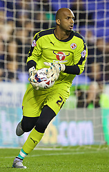 READING, ENGLAND - Tuesday, September 22, 2015: Reading's goalkeeper Ali Al Habsi in action against Everton during the Football League Cup 3rd Round match at the Madejski Stadium. (Pic by David Rawcliffe/Propaganda)