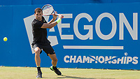 Tennis - 2017 Aegon Championships [Queen's Club Championship] - Day Three, Wednesday<br /> <br /> Men's Singles, Round of 16 - Grigor Dimitrov (BUL) vs Julien Benneteau (FRA)<br /> <br /> Grigor Dimitrov (BUL) in action on the centre court <br /> at Queens Club<br /> <br /> COLORSPORT/DANIEL BEARHAM